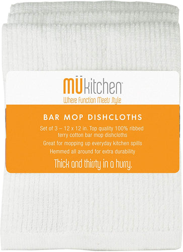 MUkitchen Bar Mop Dish Cloths-Set of 3