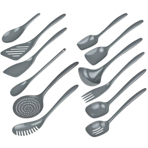 Gourmac Hutzler Melamine Mini Slotted Spoon - Grey