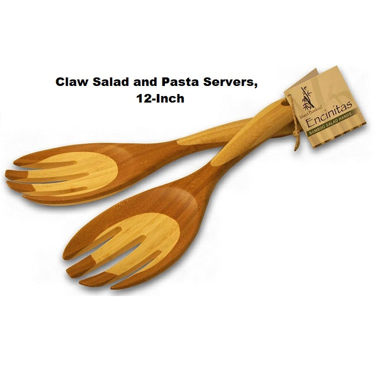 Island Bamboo Claw Salad and Pasta Servers - Bamboo