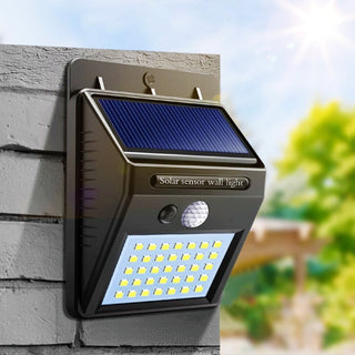 Solar Motion Sensor LED Wall Light