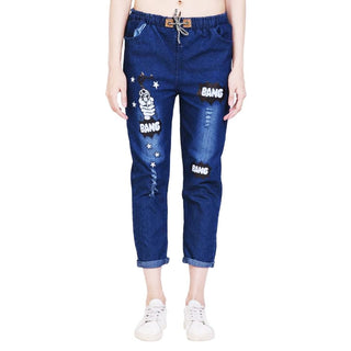 Women's Denim Jeans Jogger Collection, Design 3