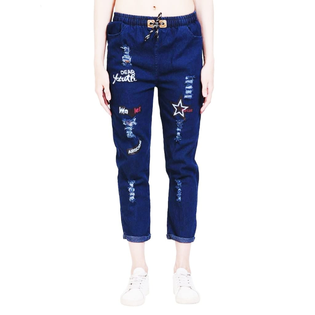 Women's Denim Jeans Jogger Collection, Design 4