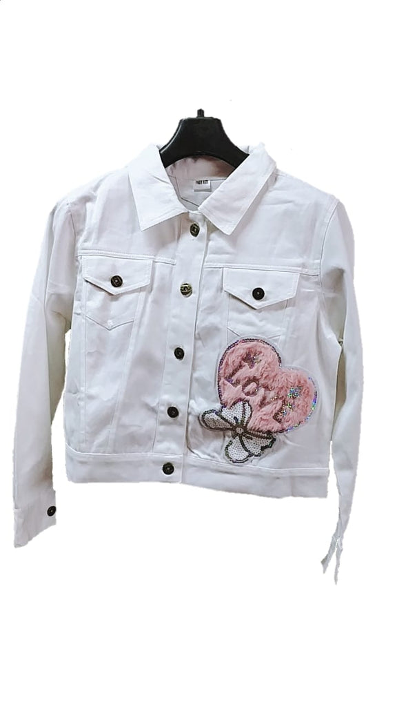 Women's Denim Jacket in White Color