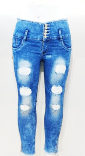 Woman's Laser Ripped Jeans Collection