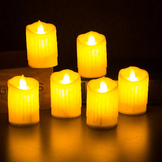 LED Plastic Swing Candles Yellow Color