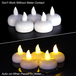 LED Floating Candles Pack Of 6 Pieces