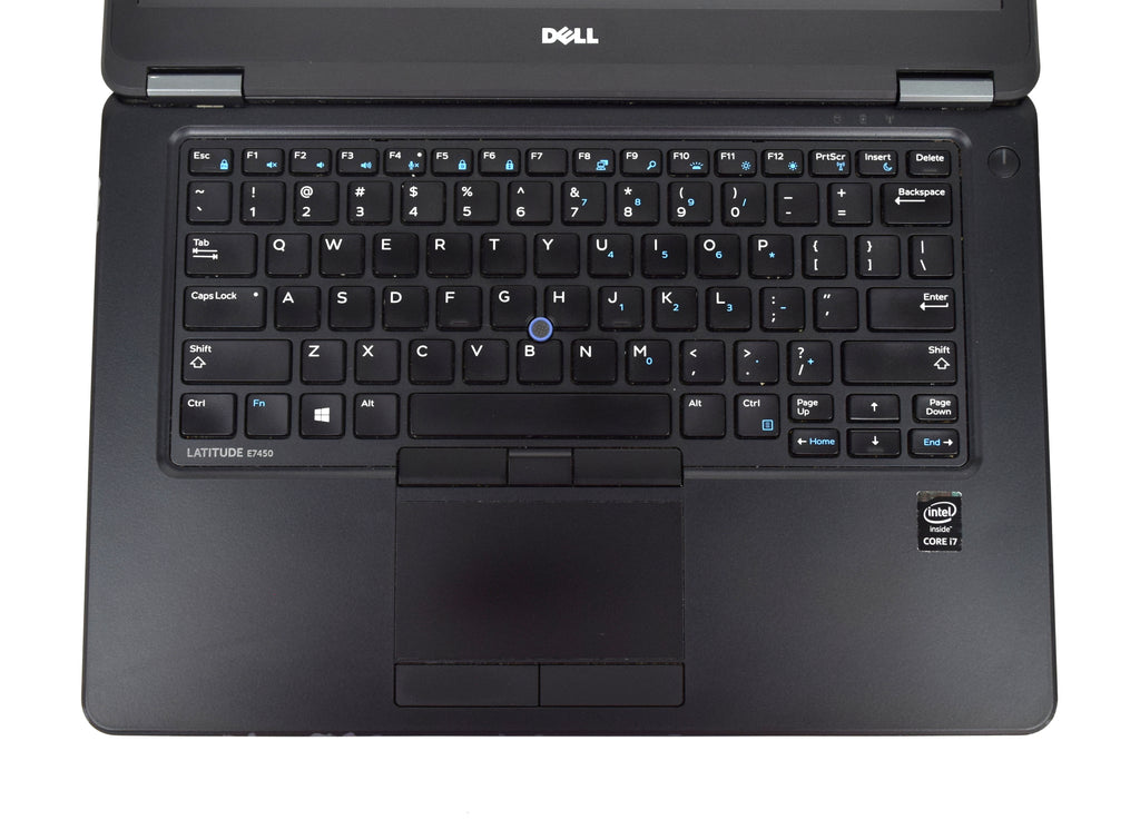 "Dell Latitude E7450 Laptop i7-5600U 2.60GHz 8GB 240GB SSD 14"" Full HD Windows 10"