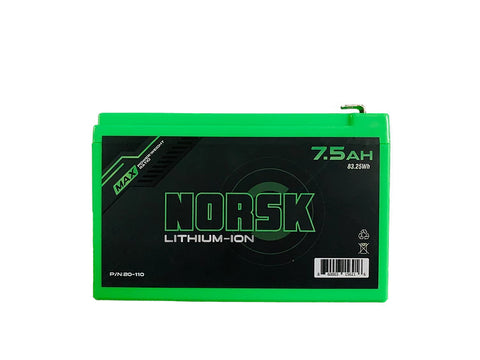 BACKORDERED-Norsk 7.5ah Lithium-Ion Battery