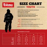 ESKIMO YOUTH KEEPER BIB WITH UPLYFT FLOAT ASSIST - Sz XS, S, M, L