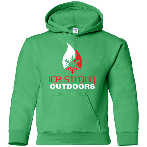Youth Pullover Hoodie Red & White Logo (LOTS of color choices)