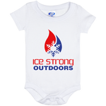Ice Strong Baby Onesie 06 Month Patriotic Logo