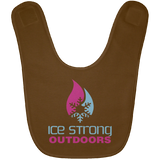 Ice Strong Baby Bib Blue & Pink Logo (LOTS of bib color choices)