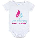 Ice Strong Baby Onesie 12 Month Cool Blue & Magenta Logo