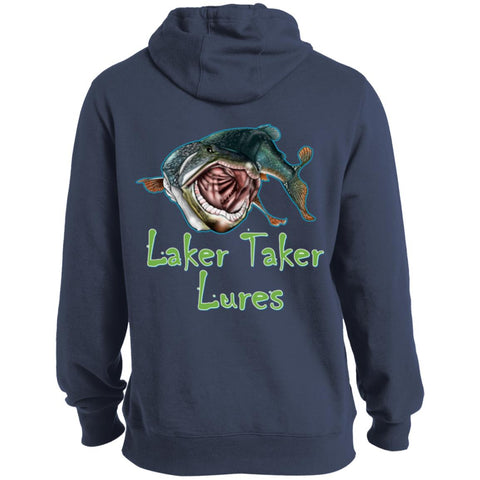 Men's Laker Taker Lures/Patriotic Logo TALL Size Hoodie (8 color choices)