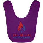 Ice Strong Baby Bib Patriotic Logo (20 color choices)