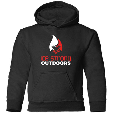 Toddler Pullover Black Hoodie Red & White Logo