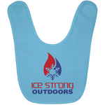Ice Strong Baby Bib Patriotic Logo (LOTS of bib color choices)