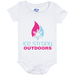 Ice Strong Baby Onesie 06 Month Cool Blue & Magenta Logo