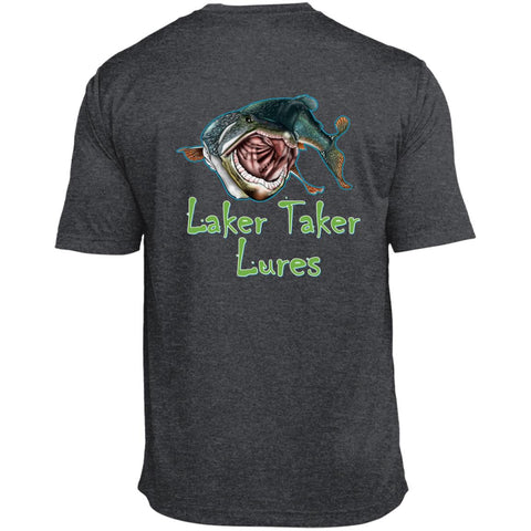 Men's Laker Taker Lures/Patriotic Logo TALL Size SS Heather Dri-Fit Moisture-Wicking T-Shirt (6 color choices)