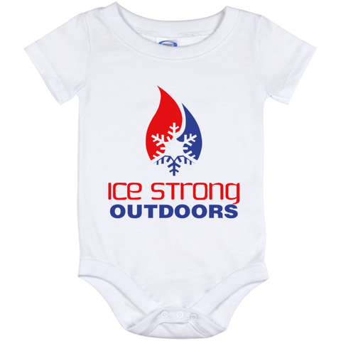Ice Strong Baby Onesie 12 Month Patriotic Logo