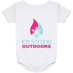 Ice Strong Baby Onesie 24 Month Cool Blue & Magenta Logo
