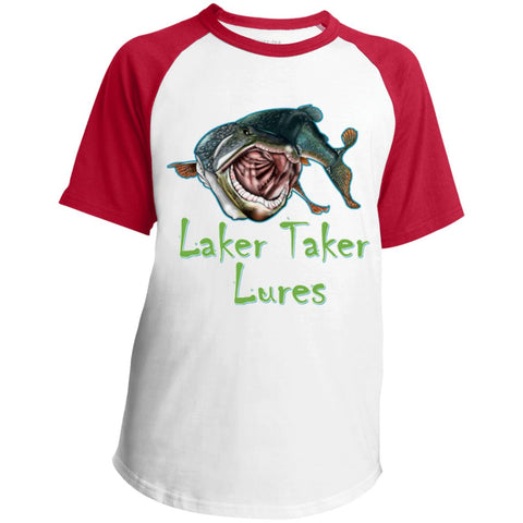 Youth Laker Taker Lures SS Colorblock Raglan Jersey (6 color choices)