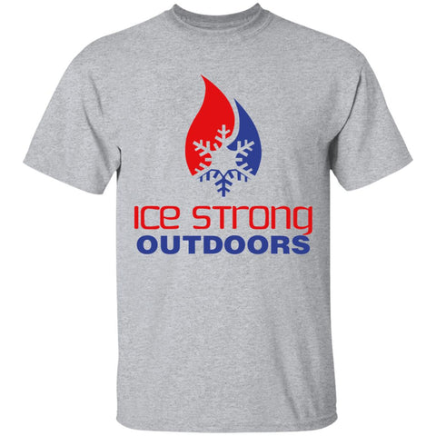 Men's Ice Strong Patriotic Logo Front/Laker Taker Back Regular Size Ultra Cotton T-Shirt (12 color choices)