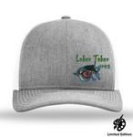 Heather/White Mesh Offset Laker Taker Logo Baseball Cap