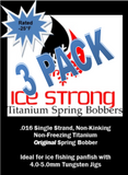 Ice Strong Titanium Spring Bobber 3-Pack ORIGINAL