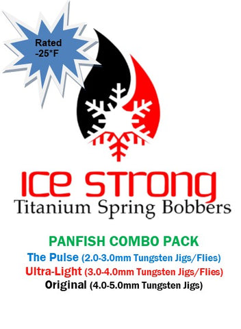 Ice Strong Titanium Spring Bobber 3-Pack Panfish Combo