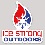Ice Strong Outdoors Patriotic Die Cut Sticker 5""