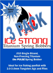 ***Ice Strong Titanium Spring Bobber 3-Pack THE PULSE NEW for 2019