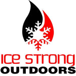 "Ice Strong Outdoors 4""x 4"" Square Sticker"