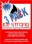 Ice Strong Titanium Spring Bobber 3-Pack ULTRA-LIGHT