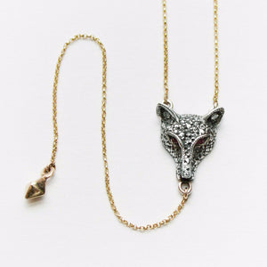SM WOLF PENDULUM NECKLACE