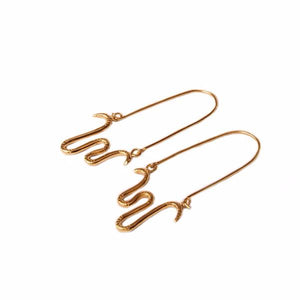 Snake Charmer Hoop Earrings