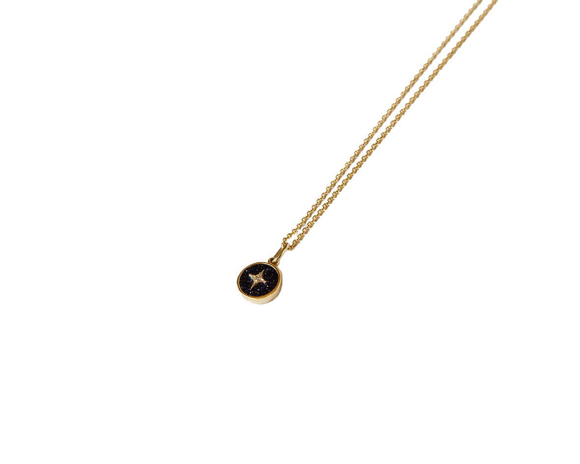 Pale Blue Dot Spinning Necklace