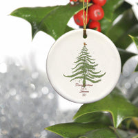 Personalized Vintage Christmas Tree Ornament