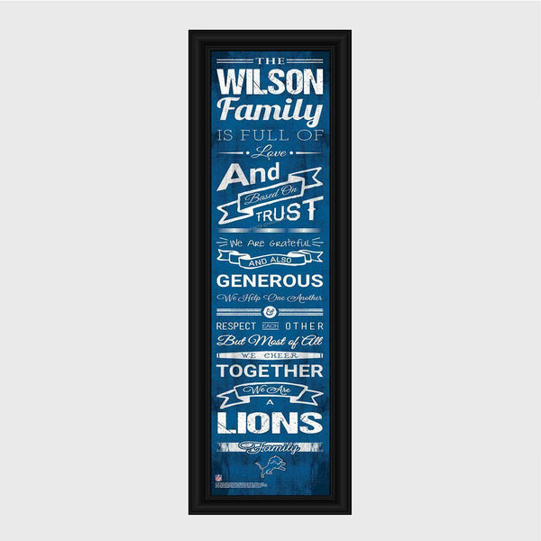 Personalized NFL Family Cheer Print & Frame - All NFL Team Available