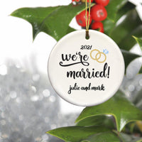 Personalized Christmas Ornaments - Couple's Ornaments - Ceramic