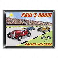 Personalized Kid's Room Sign - Racer