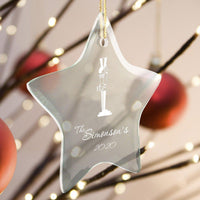Personalized Ornaments - Christmas Ornaments - Glass - Star Shape