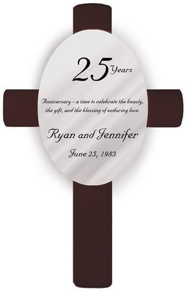 Personalized Anniversary Cross