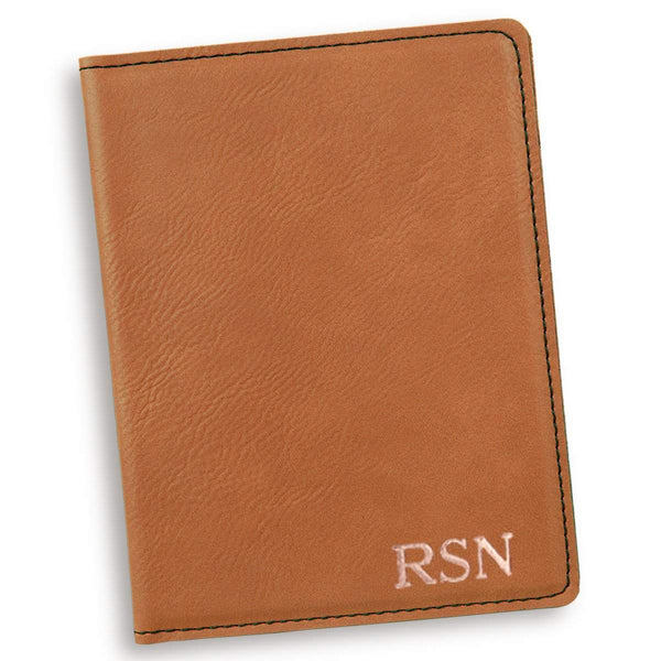 Personalized Rawhide Passport Holder