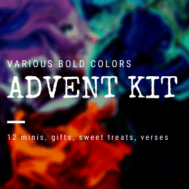 PRE-ORDER- Advent Kit- Bold color, 12 DK Minis + 1 Full DK Skeins