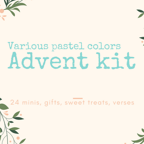PRE-ORDER- Advent Kit- Pastel colors of 24 DK Minis + 1 Full DK Skeins