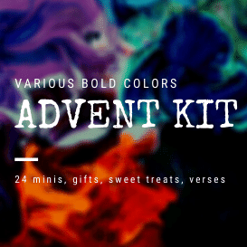 PRE-ORDER- Advent Kit- Bold colors of 24 DK Minis + 1 Full DK Skein