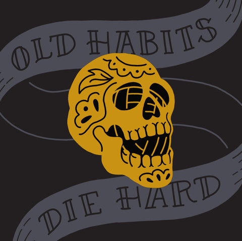 Yarn Habits Enamel Pin - Gold and Black Metal