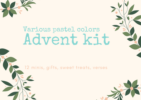 PRE-ORDER- Advent Kit- Pastel colors of 12 DK Minis + 1 Full DK Skeins