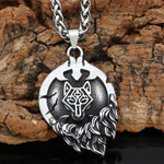 Fenrir Flaming Sun Necklace - Odins-Glory